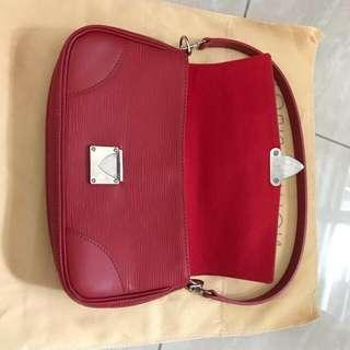 Louis Vuitton Rouge Epi Leather Pochette Segur Clutch Bag