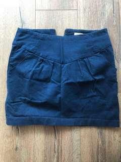 Navy Corduroy Silence & Noise Skirt - 8