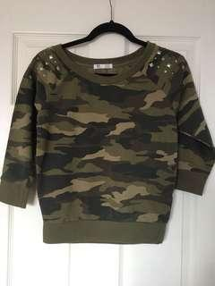 Camo Quarter-Sleeve Shirt