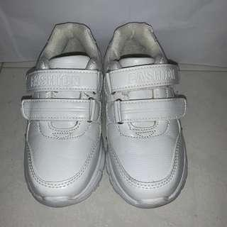 Wore once White leather School Shoes