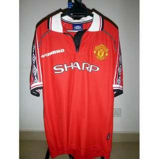 [Vintage/Original] Manchester United Umbro Sharp Jersey (free 1 more MU jersey)
