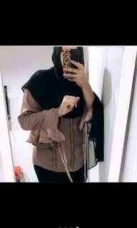 Glossy blouse H&M import