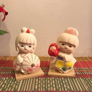 🆕 Japanese clay dolls