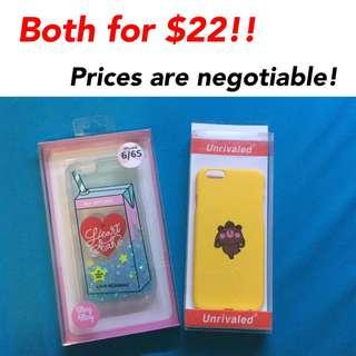 2 for $22 iphone 6/6s Cases