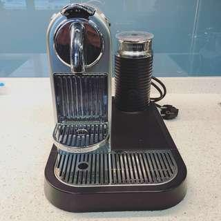 Nespresso Citiz coffeemaker with frother