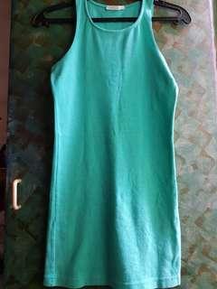 Forever 21 Teal Slim Fit Dress