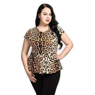 Leopard Top plus size