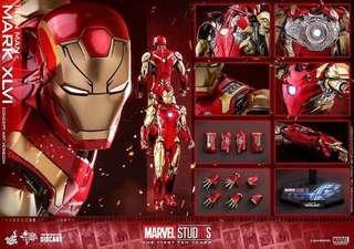已開封未著用 Hottoys iron man mark 46 concept art 概念版