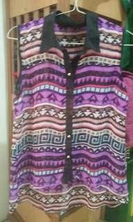Shirt Chiffon Purple