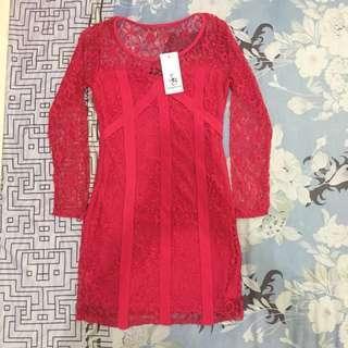Something Borrowed Lace Dress Mini