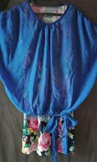 Blouse Floral Biru