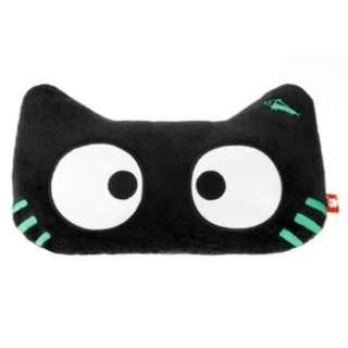 Glow-in-the-dark Luminous Cat Head Neck Rest Cushion Pillow w/ Stretchy Strap
