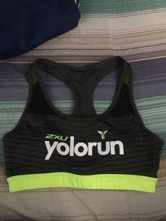 YOLO run Sports Bra
