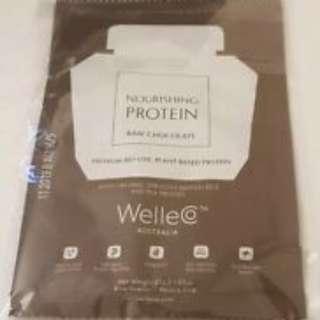 WelleCo Nourishing Protein Sachet Raw Chocolate 33g Sachet SEALED x 1