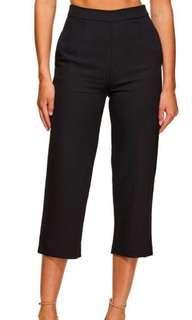 Kookai Oyster Pants Black Size 38