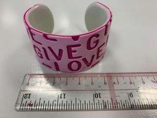 Agnes b sports pink bangle