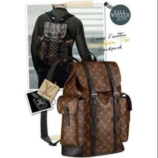 Authentic LV Christopher Macassar Backpack CM043