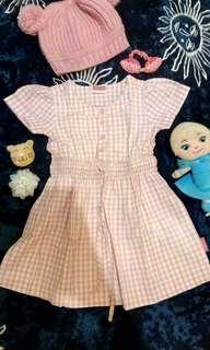 Cool Girl Pink Dress 12-24M