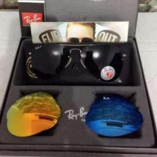 Ray-Ban RB 3460 Aviator Flip Out Set CM045