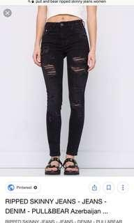 Pull&Bear Ripped Skinny Jeans