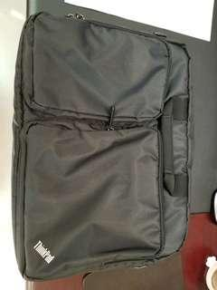 Lenovo notebook bag backpack 手提電腦袋 可變背包