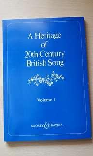 (全新)A Heritage of 20th Century British Song