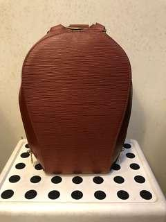 48c8238061c6 Louis Vuitton Red Epi Leather Mabillon Backpack