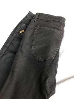 Faux leather jeans pants