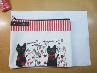 貓 筆袋/化妝袋