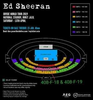 CAT 2 Ed Sheeran Divide World Tour concert 2019