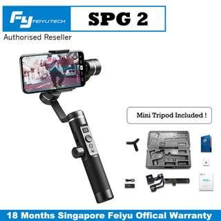🚚 Feiyu SPG 2 Splash Proof / OLED Display / Zoom or Focus Ring / 3 Axis Gimbal Stabilizer for All Smartphone up to 300g