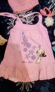 Baby Popeye Girls Pink Dress