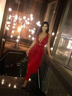 Red Mendocino dress
