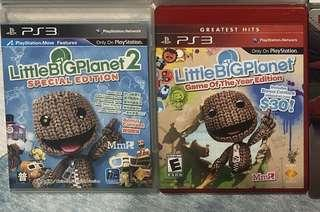 PS3 Game Little Big Planet 1&2