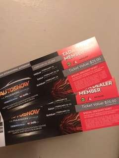 Toronto AutoShow Tickets