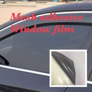 Mesh adhesive static film