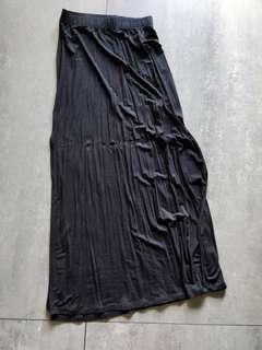 F21 Forever 21 Long Navy Skirt with Slit