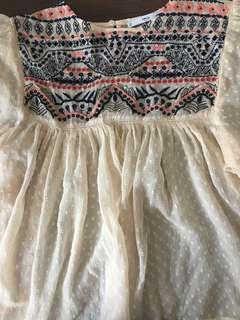 Mango Embroidered Top
