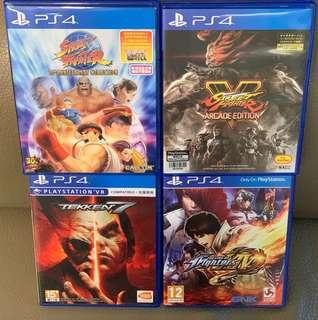 PS4 鉄拳 King of Fighters Street Fighter Marvel VS Capcom 格鬥 Game
