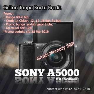 Cicilan kamera Sony A5000, tanpa kartu kredit