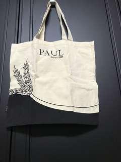 PAUL 布質購物袋 實用 學生袋 文件袋