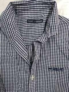 男装兒童格仔短袖恤衫