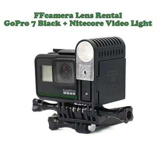 Sewa GoPro Hero 7 Black / 4 Silver + Nitecore Video Light camera rental