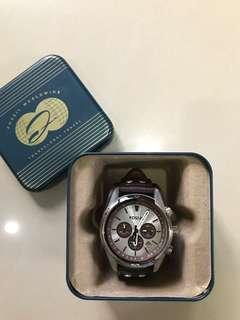 Original Fossil Men's Watch with leather strap