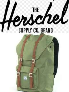 (Last piece) Herschel Little America mid volume olive green backpack