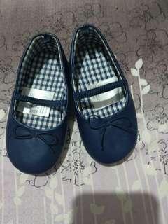 Flatshoes toddler HNM preloved sandal anak bayi H&M NAVY MULUS LIKE NEW BRANDED FLAT SHOES