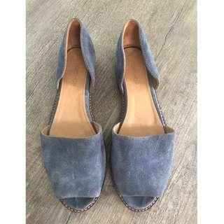 Topshop Blue Leather Sandals
