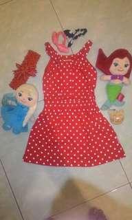 Cool Baby Dress Red Polkadot
