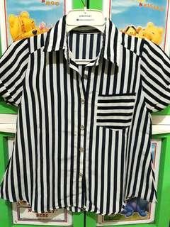Kemeja navy stripe