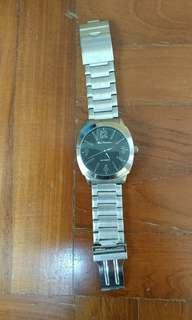 Ben Sherman analog round face silver metal watch